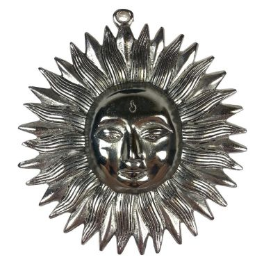 Sun Face Metal Wall Plague