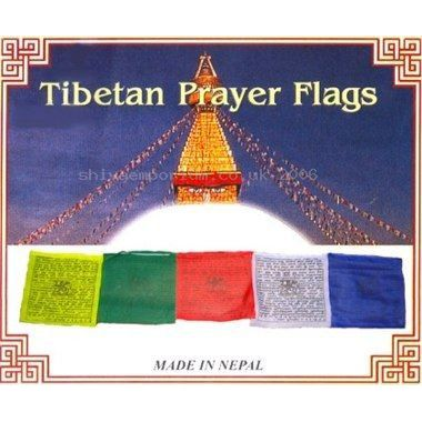 Cotton Tibetan Prayer Flags Single