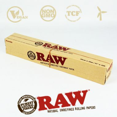 Raw Unrefined Parchment Paper Roll 30cm x 10m