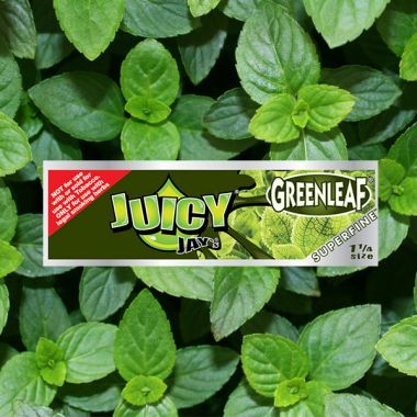 Juicy Jay 1 1/4 Superfine Papers - Greenleaf