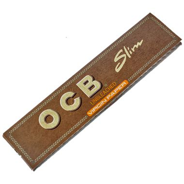 OCB Virgin Unbleached Kingsize Slim Papers