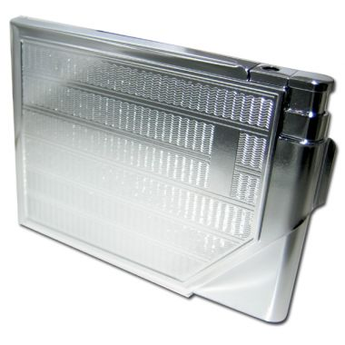 Cigarette Case with Lighter - Engraved Chrome