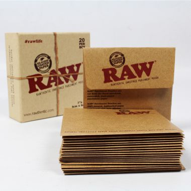 RAW Unrefined Parchment Pouches