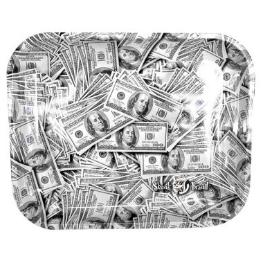 Skunk Brand 'Cash' Metal Rolling Tray