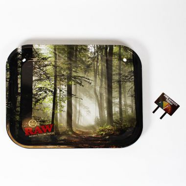 Large RAW Forest Metal Rolling Tray