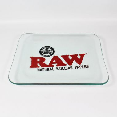 RAW Limited Edition Glass Rolling Tray (26.5cm x 32cm)