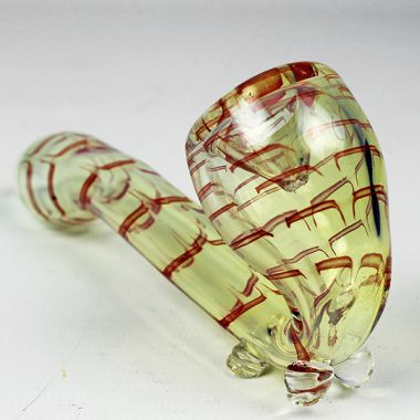 Striped Glass Sherlock Pipe