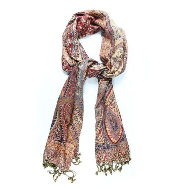 Shaded Paisley Pashmina