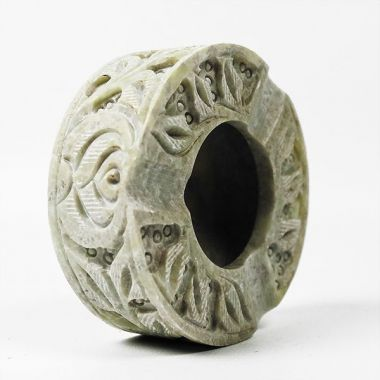 Round Soapstone Ashtray