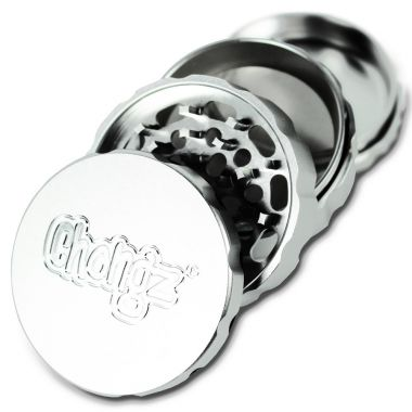 Chongz 63mm 4 Part Notch Grinder Silver