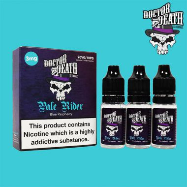Doctor Death Pale Rider (Blue Raspberry) 3x10ml Multipack (3mg)