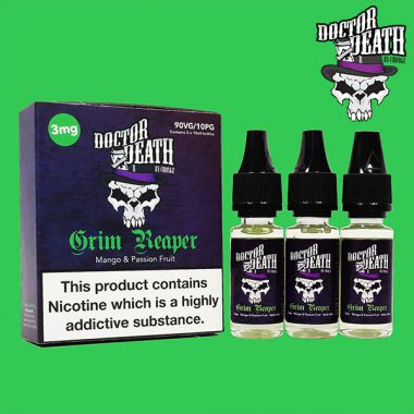 Doctor Death Grim Reaper (Mango & Passion Fruit) 3x10ml Multipack (3mg)