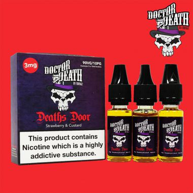 Doctor Death Deaths Door (Strawberry & Custard) 3x10ml Multipack (3mg)