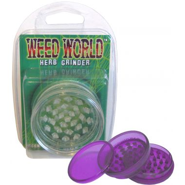 Weed World Grinder - Clear