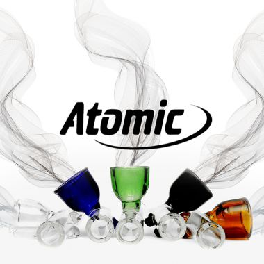 Atomic Coloured Glass Pipe