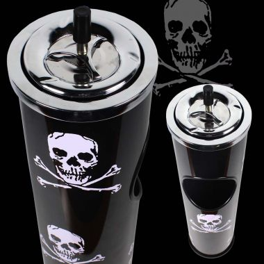 Skull Lounge Spinning Ashtray & Bin