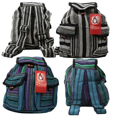 Two Pocket Woven Backpack