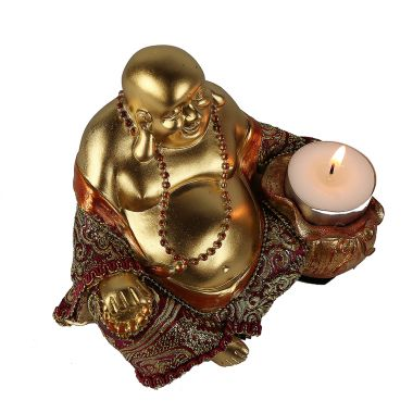 Sitting Chinese Buddha Tealight Holder