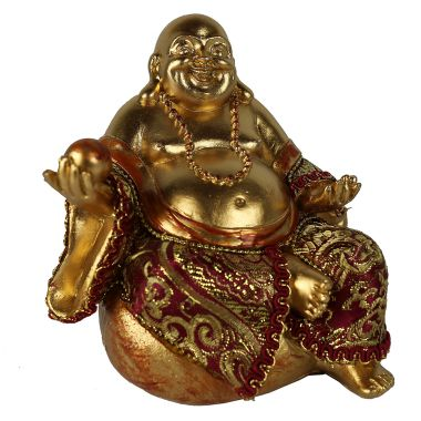 Large Sitting Chinese Buddha Statuette