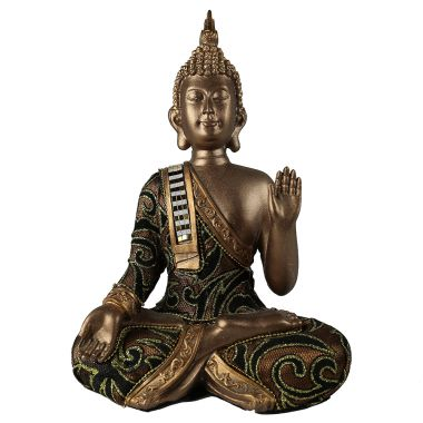 Sitting Thai Buddha Gold Fabric Statuette