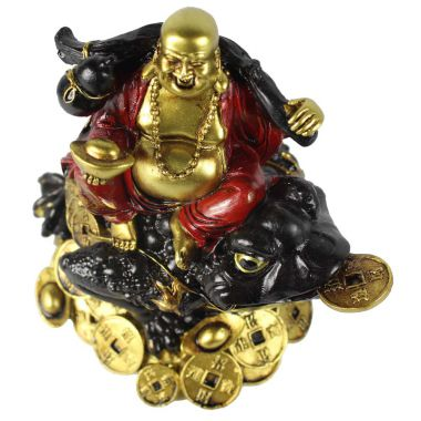 Buddha on Wealth Toad Figurine