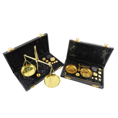 Cased Brass Pan Scales