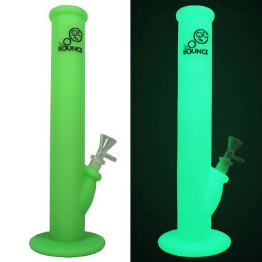 Bounce Classic Silicone Bong - Lime Green (Glow in the Dark)