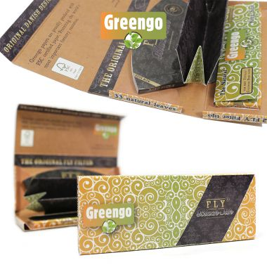 Greengo 'Fly Black Silk' Kingsize Rolling Papers with Tray