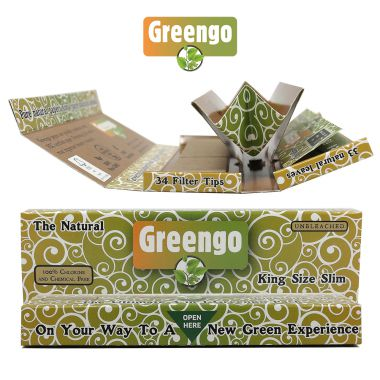 Greengo 3-In-1 Kingsize Slim Rolling Papers