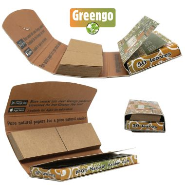 Greengo 1 1/4 Natural Unbleached Papers & Filter Tips