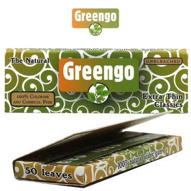 Greengo 1 1/4 Natural Unbleached Extra Thin Classic Papers