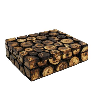 Log Wooden Storage Box