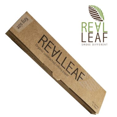 Real Leaf Kingsize Organic Unbleached Rolling Papers + Filter Tips