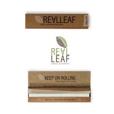 Real Leaf Organic Unbleached King Size Rolling Papers