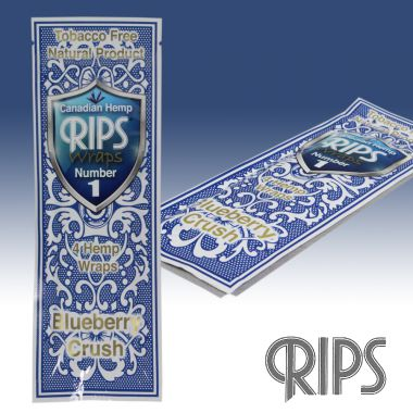 Tobacco Free Natural Wraps 4 Pack by RIPS - Blueberry Crush