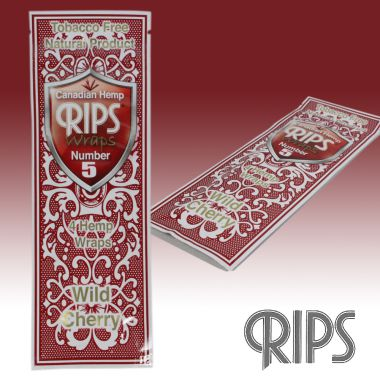 Tobacco Free Natural Wraps 4 Pack by RIPS - Wild Cherry
