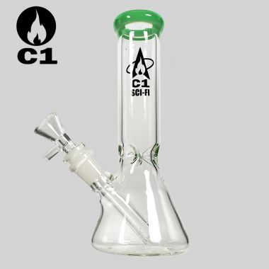 Cheeky One Sci-Fi 'Crystaline' Glass Bong - Jade