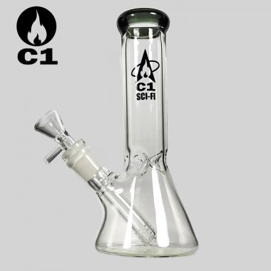 Cheeky One Sci-Fi 'Crystaline' Glass Bong - Dark Grey