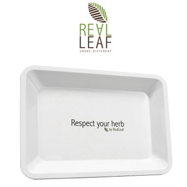 Real Leaf Metal Rolling Tray