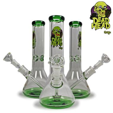 Chongz Dead Head 'Day of the Dead' 30 cm Glass Bong - Green