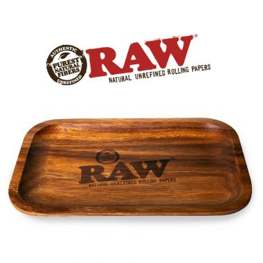 RAW Genuine Wooden Rolling Tray 17.5 x 27.5 cm