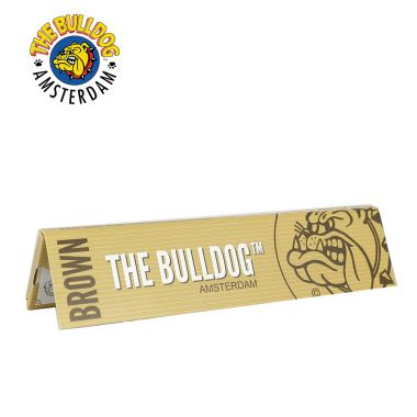 The Bulldog Brown Kingsize Slim Unbleached Rolling Papers