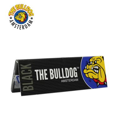 The Bulldog Black 1 1/4 Size Rolling Papers
