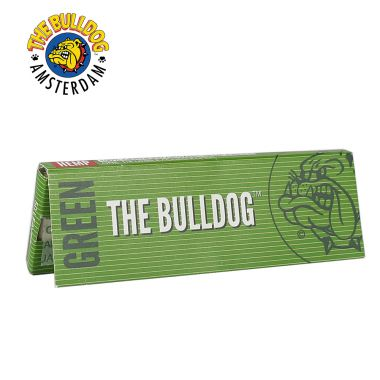 The Bulldog Green 1 1/4 Size Rolling Papers