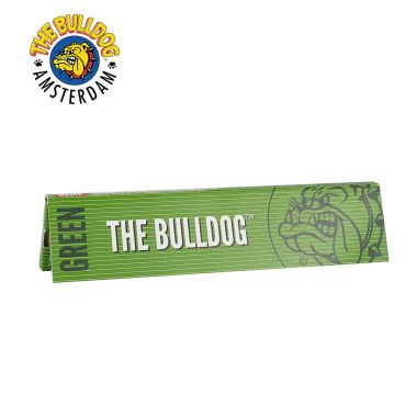 The Bulldog Green Kingsize Slim Unbleached Rolling Papers