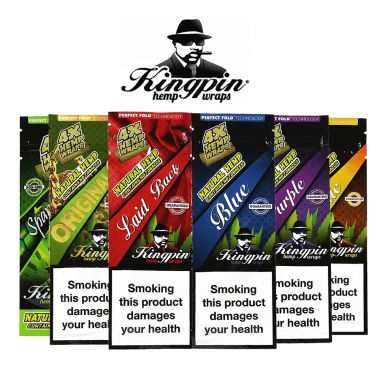 Kingpin Tobacco Free Wraps 4 Pack
