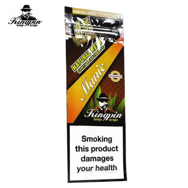 Kingpin Tobacco Free Wraps - Manic Mango (Orange)