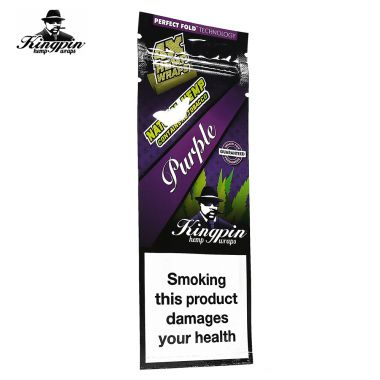 Kingpin Tobacco Free Wraps - Goomba Grape (Purple)