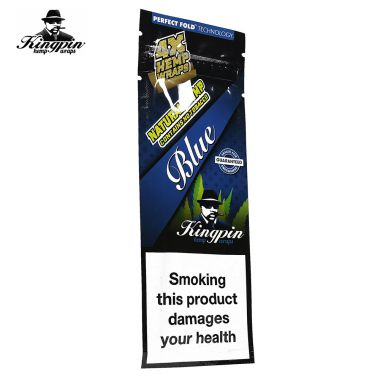 Kingpin Tobacco Free Wraps - Blueberry Bomb (Blue)