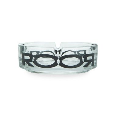ROOR Glass Ashtray - Black Logo